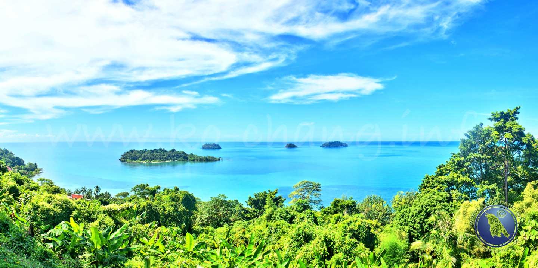 Aussichtspunkt am Kai Bae Beach auf Koh Chang in Thailand