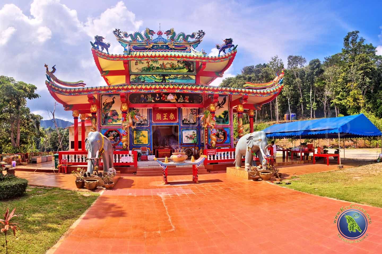 Chinesischer Tempel in Klong Son auf Koh Chang in Thailand