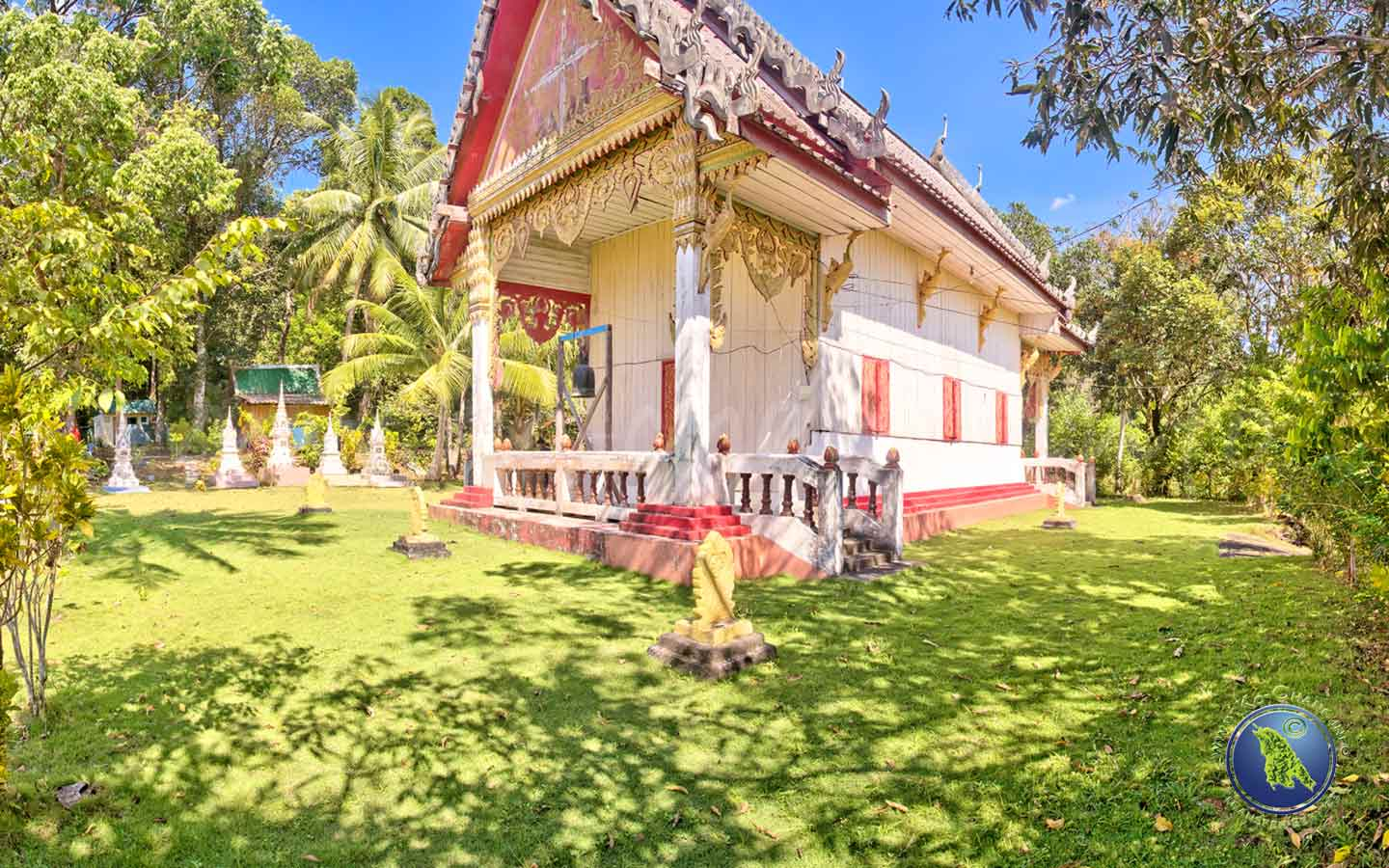 Buddhistischer Tempel in Bang Bao auf Koh Chang in Thailand