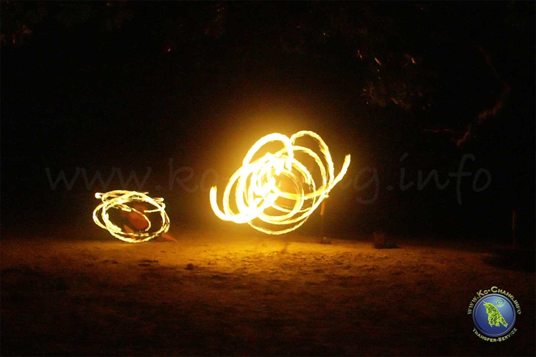 Nachtleben auf Koh Chang: Fireshow