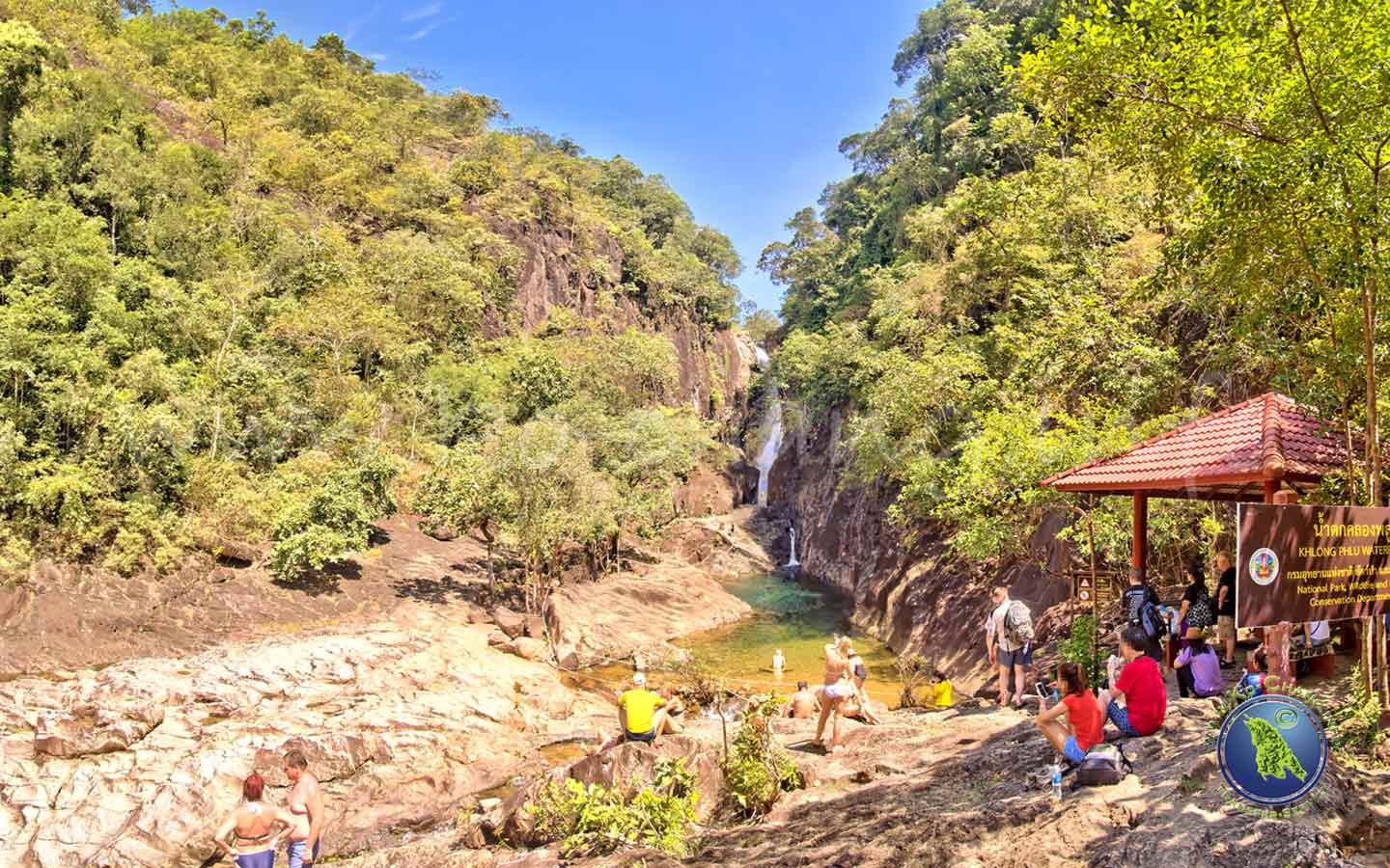 Wasserfälle auf Koh Chang in Thailand: Klong Plu Wasserfall