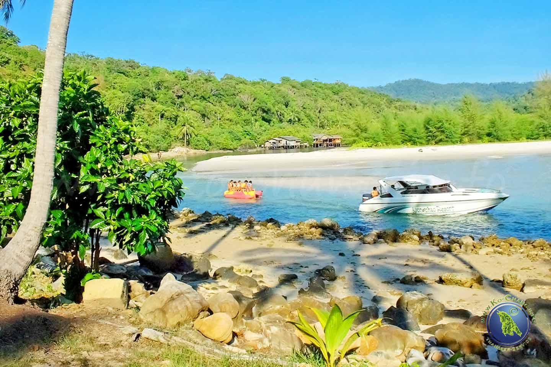 Banana-Boat auf Koh Kood in Thailand