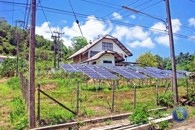 Solar-Energie auf Koh Kood in Thailand