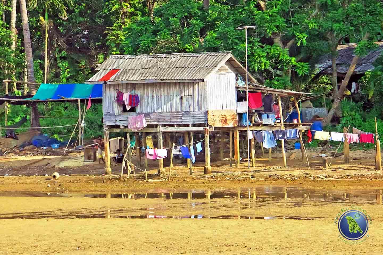 Fischerhütte auf Koh Maak in Thailand