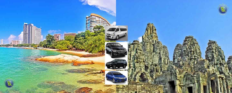 Pattaya in Thailand und Angkor Wat in Kambodscha