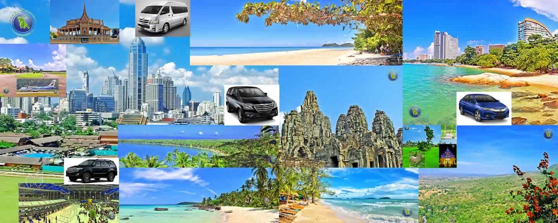Destinationen in Thailand und Kambodscha die wir anfahren können