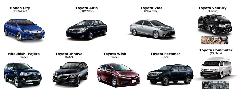 Fahrzeugtypen für die Privat-Transfers nach Koh Chang in Thailand
