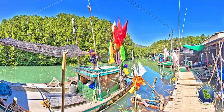 Fischerdorf der Salak Khok Bucht auf Koh Chang
