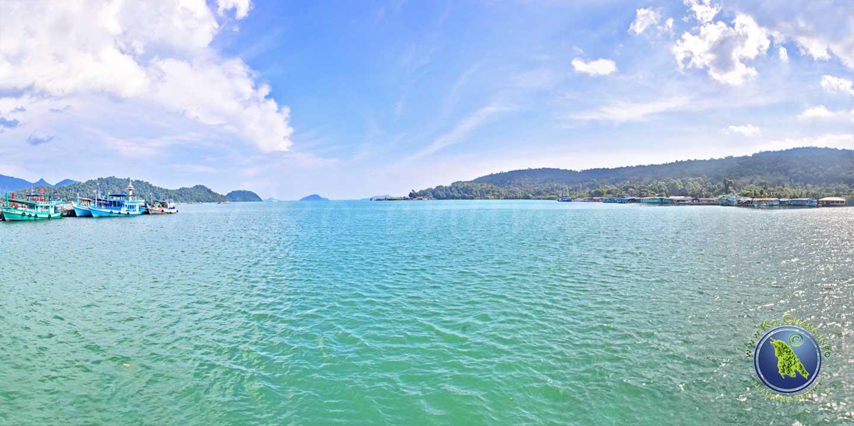 Pier der Salak Phet Bucht auf Koh Chang