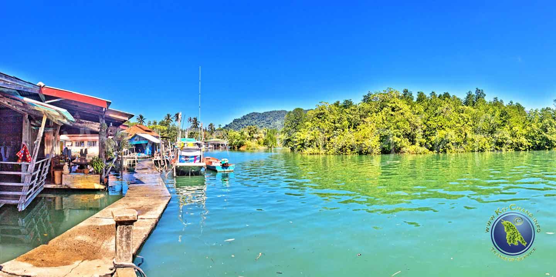 Dorf der Salak Phet Bucht auf Koh Chang