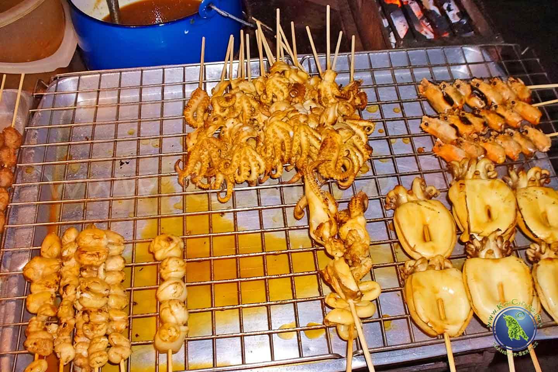 Fruits de mer grillés en Thaïlande