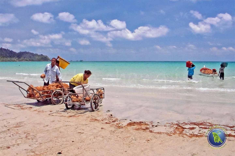 Menschen in Thailand bei der Arbeit in Thailand