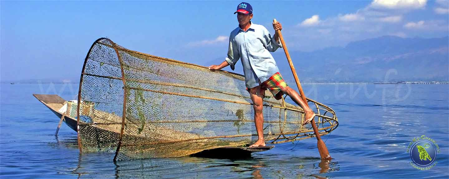 Fischer am Inle Lake in Myanmar