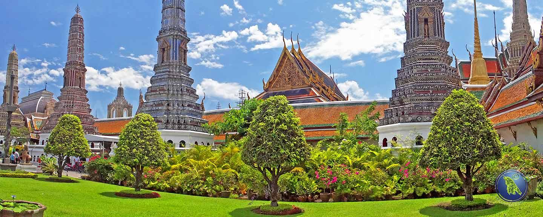 Königspalast Wat Phrakeo in Bangkok in Thailand