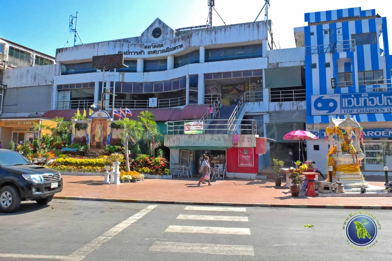 Markthalle in Trat vor Koh Chang in Thailand